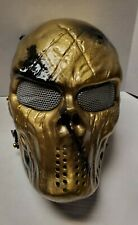 """""""Midas"""" Airsoft Mask with Mesh Usa Seller Custom Painted by American 1 of 1"""