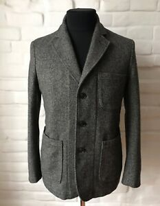 1ST PAT-RN Men's Suit Gray Wool Size M Made In Italy!
