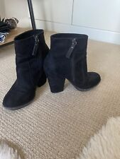 Ladies Zara Black Ankle Boots Size 38 (5), Immaculate Condition