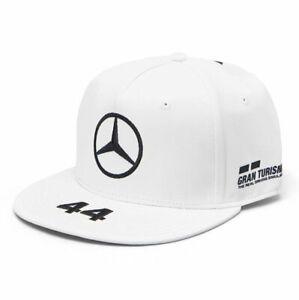 2020 Official Lewis Hamilton Flatbrim Cap White - Mercedes AMG Petronas F1 OSFA