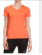 Puma Ladies Teaberry Red V Sports T Shirt BNWT Size 10 see Description