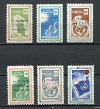 37218) Panama 1959 MNH Cepal 6v Scott# 425/26 + C218/21