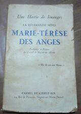 Une hostie de louange, Marie-Thérèse Des Anges,  Carmel de Nogent-sur-Marne