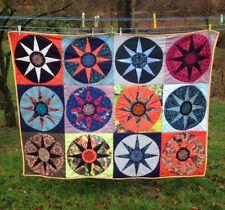 Sunburst Patchwork Decke Quilt Kuscheldecke Flickendecke Tagesdecke 150 x 200cm