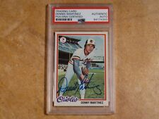 DENNIS MARTINEZ 1978 TOPPS SIGNED AUTOGRAPHED CARD #119 BALTIMORE ORIOLES PSA