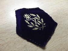patch écusson losange de bras mdl 1945 service santé doré sur velours bordeaux