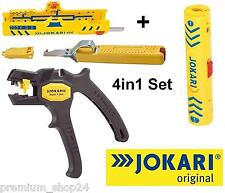 JOKARI 4in1 Elektro Set automatische Abisolierzange für Drähte Adern Kabel Coaxi