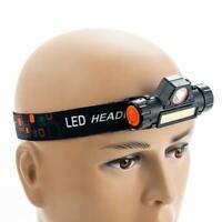 50000LM COB+XPE LED Headlamp Rechargable Magnet Headlight Built-in Battery GA