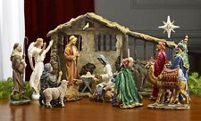 Deluxe Edition 16 Piece 10 Inch Christmas Nativity Set with Real Frankincense...