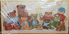 Sunset Jiffy Stitchery 2605 Bear With Us Crewel Kit 10x20 Donna Enstaff