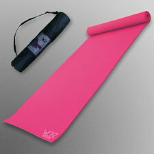 Yoga Exercise Fitness Mat Physio Pilates Festivals Camping Non Slip 6mm Pink