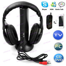 5 in1 Multi-functional Wireless Earphone Headphone For Tv Pc Mp3 Mp4 Mp5 Radio J