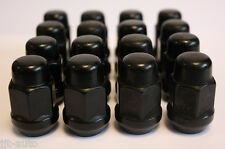 16 X M12 X 1.5 BLACK TAPERED ALLOY WHEEL NUTS FIT FORD FOCUS MK1 FUSION KA 07>