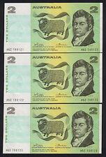 R-85. (1974) 2 Dollars... Phillips/Wheeler.. Australia..  aU-UNC - CONSEC Trio
