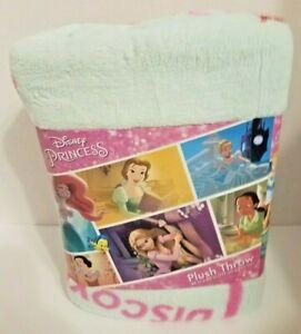 "Disney Princess ARIEL Plush Throw Blanket 46""x 60"" NEW"