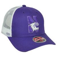 NCAA Zephyr Northwester Wildcats Mesh Purple Hat Cap Snapback Curved Bill