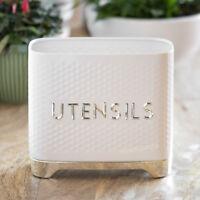 Modern Lovello Textured Kitchen Utensil Storage Pot Jar Cutlery Holder Caddy