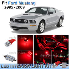 For 2005-2009 Ford Mustang Brilliant Red Interior LED Lights Kit 7 Pieces