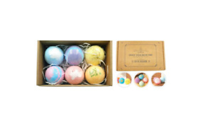 Bath Bombs Balls Sparkling Set 6x60g Gift Scented Makes Skin Refreshed Smooth