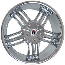 4 GWG WHEELS 20 inch Chrome SPADE Rims fits CADILLAC DTS PERFORMANCE PKG. 2011