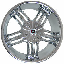 4 GWG WHEELS 22 inch Chrome SPADE Rims fits 5X114.3 ET18 JEEP LIBERTY 2009