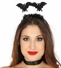 HALLOWEEN Black Glitter Bat Headband Deeley Boppers Fancy Dress Halloween