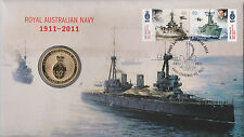 **2011  Centenary of The Royal  Australian Navy $1 coin PNC **