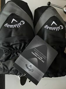 CALLAWAY THERMAL MITTS CART GOLF GLOVES BLACK (1 PAIR) - NEW 2021