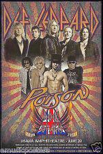 "DEF LEPPARD / POISON ""ROCK OF AGES TOUR 2012"" SALT LAKE CITY CONCERT POSTER"
