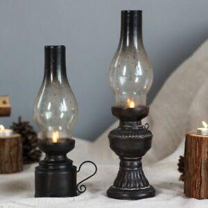 Creative Resin Crafts Nostalgic Kerosene Lamp Candle Holder Vintage Decoration