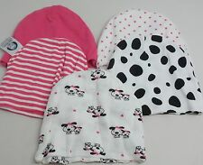 Gerber Baby-Girls Newborn 5 Pack Caps Dalmation, Pink, Newborn