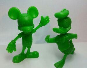 """Vintage Walt Disney 6"""" Mickey Mouse/Donald Duck Figures - Louis Marx Co. - 1971"""