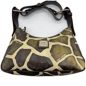 Dooney & Bourke Giraffe Print Leather Strap Purse Shoulder Bag Satchel