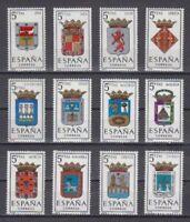 ESPAÑA (1964) MNH NUEVO SIN FIJASELLOS SPAIN - EDIFIL 1551/62 ESCUDOS