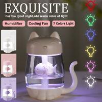 3In1 350ML USB Cat Air  Ultrasonic Cool-Mist Adorable Mini  New