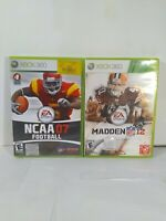 NCAA Football 07 & Madden 12 Microsoft Xbox 360 College & Professional Football