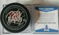 BECKETT COA BRENDAN PERLINI SIGNED 20yrs OFFICIAL GAME PUCK ARIZONA COYOTES NHL