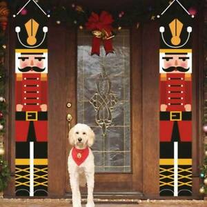 Outdoor Xmas Decor - Soldier Model Nutcracker Banners Christmas Decorations-