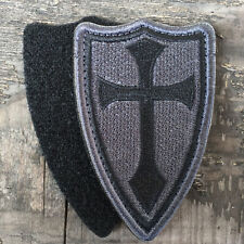 The Crusaders Cross Shield USA Military Army Tactical Morale Desert Badge Patch