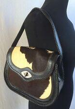 Vintage Holstein Cowhide Leather Purse Shoulder Bag Western Cowboy Old West