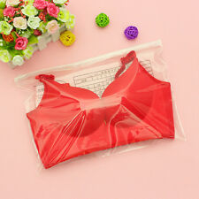 Wholesale 5X Self-styled Bags Transparent Plastic Clothes Bra Storage Zipper Bag