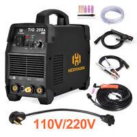 HZXVOGEN 200A TIG Welder Inverter 110V/220V ARC Stick TIG Welding Machine IGBT
