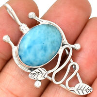 Larimar 925 Sterling Silver Pendant Jewelry AP8497