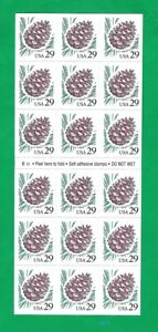 US Stamps - #2491A - 29c PINE CONE PANE OF 18 STAMPS - Plate B11