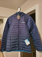 Columbia McKay lake Hooded Down Jacket men's size S new with tags full Zip