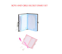 SET OF 2 BOYS AND GIRLS SECRET HIDDEN MESSAGE DIARY SET PRINCESS SECRET AGENT