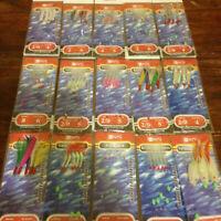 BZS Mackerel Mackeral Feathers Hokkai hockeye sea lures mini shrimp tinsel sea