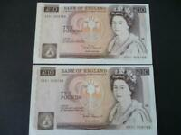 PAIR 1980 SOMERSET £10 NOTES  UNCIRCULATED AND CONSECUTIVE, DUGGLEBY REF:B348.