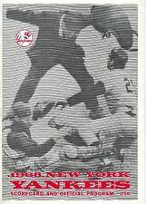 1968 baseball program Baltimore Orioles v New York Yankees scored GOOD