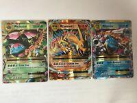 MEGA Charizard Venusaur Blastoise EX 2, 13 & 22/108 NM Pokemon Xy Evolutions Set